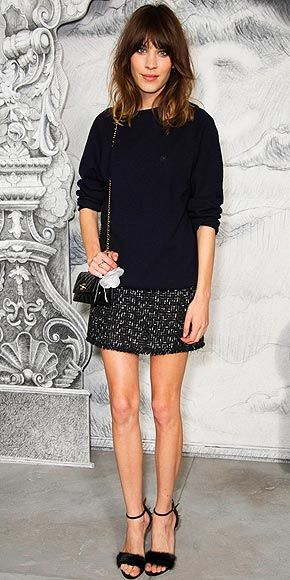 Alexa Chung - so, I have a thing for sharply dressed, brunettes with chunky fringes