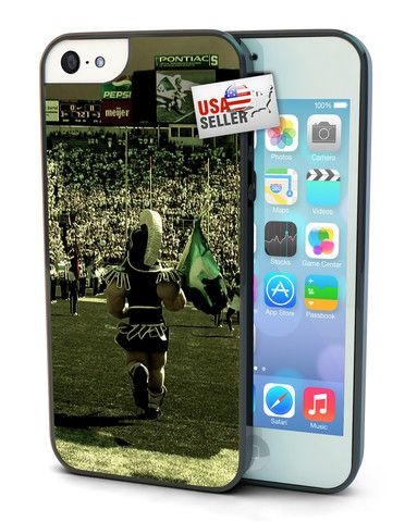 Michigan State Spartans Cell Phone Hard Case for iPhone 6, iPhone 6 Plus, iPhone 5/5s, iPhone 4/4s or iPhone 5c