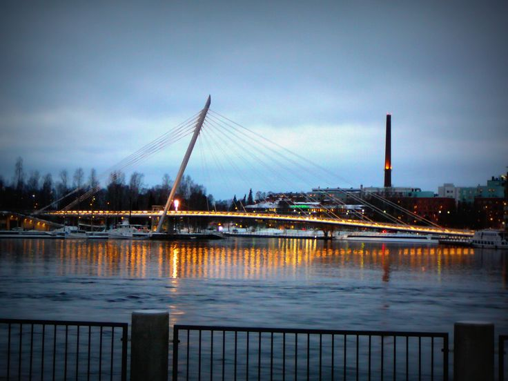 #tampere #tammerfors #city #bridge #winter