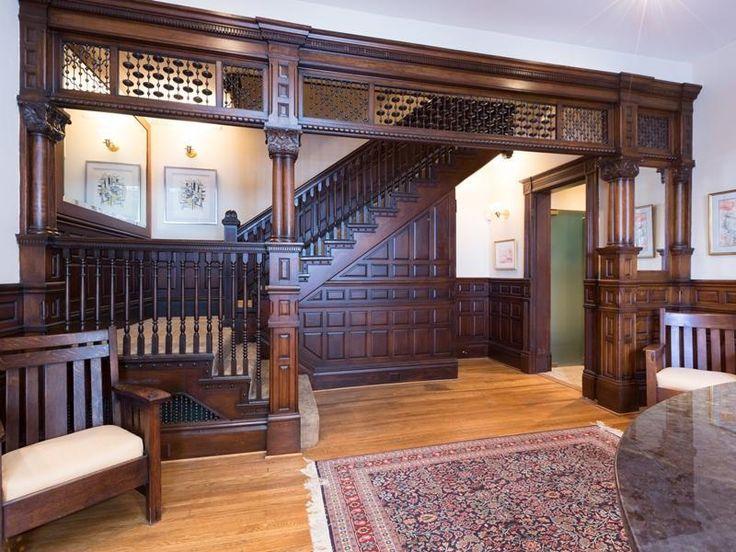Washinton dc richardson romanesque victorian interior for Victorian woodwork