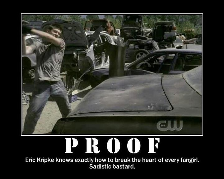 Proof that Eric Kripke knows exactly how to break the heart of every fangirl. #Impala #Supernatural
