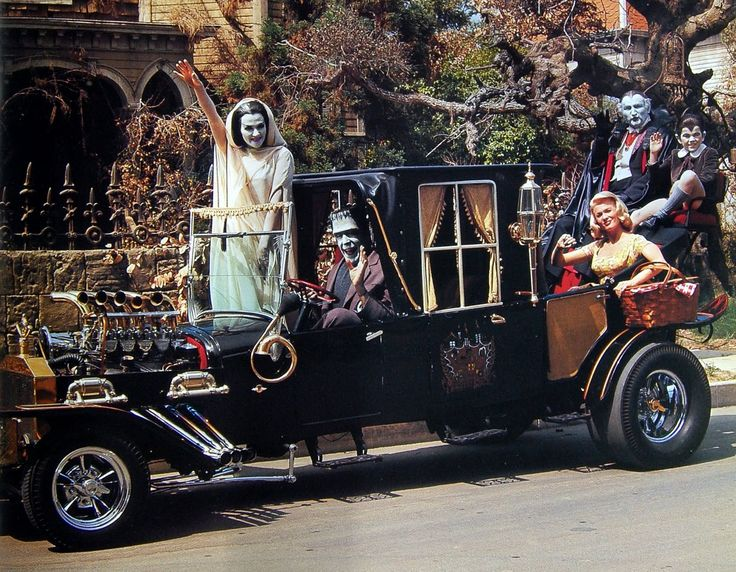 The Munsters Koach mobile. In color. Hearse style Hot Rod. Classic.