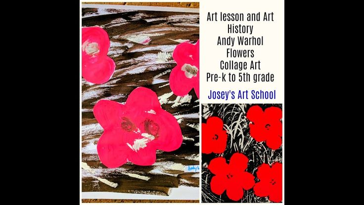 Joseys Art School Episode #146 Andy Warhol Flowers Pop Art Kids Art Lesson