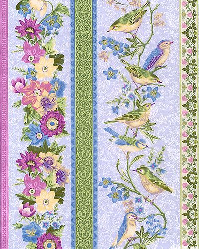 eQuilter Natures Song - Birds On The Vine Stripe - Heather