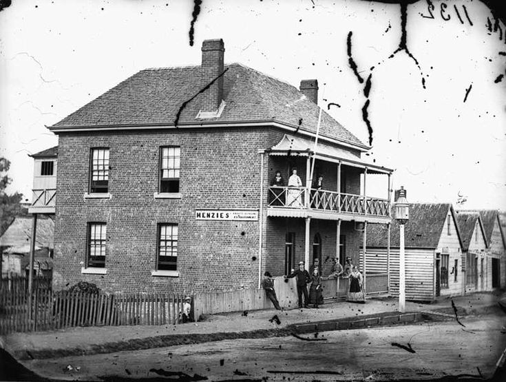Menzies Boarding House on the north face of Edward Street, Brisbane, ca. 1872