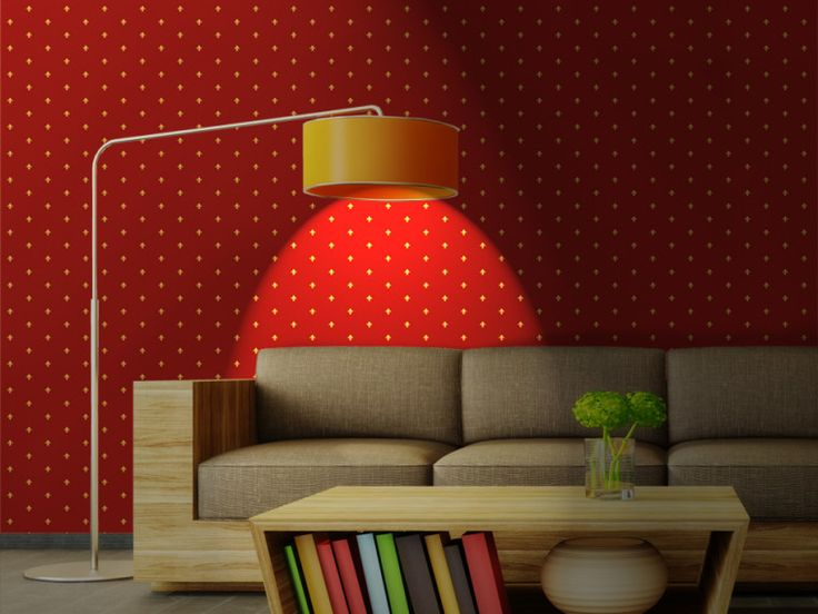 Fiorentina Red > Collezione Decor #wallpaper #mycollection #room #colour #design #home #office #living #decor #firenze #florence #giglio #lilum