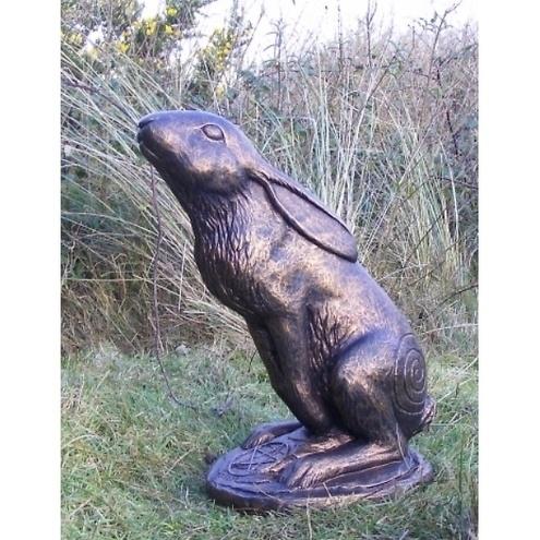 Eclipse Mother Moon Gazing Hare Pagan Garden Sculpture £49.99 by Firwel Crafts