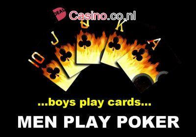 Jongens spelen kaarten maar mannen spelen poker - #Casinosonline