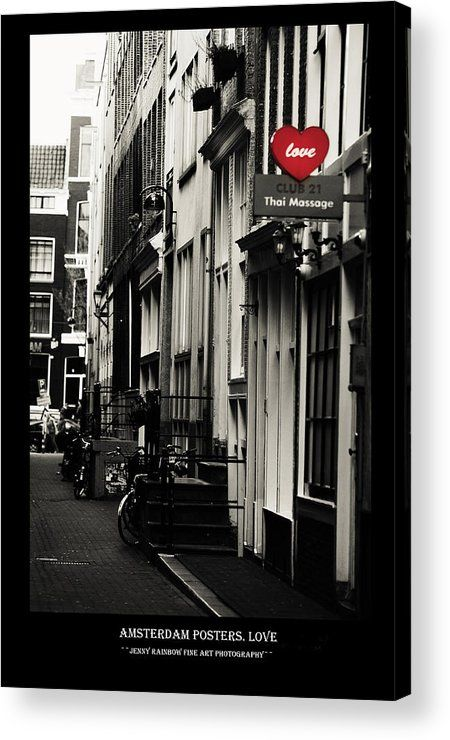 Amsterdam Posters. Love Acrylic Print by Jenny Rainbow.  All acrylic prints are professionally printed, packaged, and shipped within 3 - 4 business days and delivered ready-to-hang on your wall. Choose from multiple sizes and mounting options.