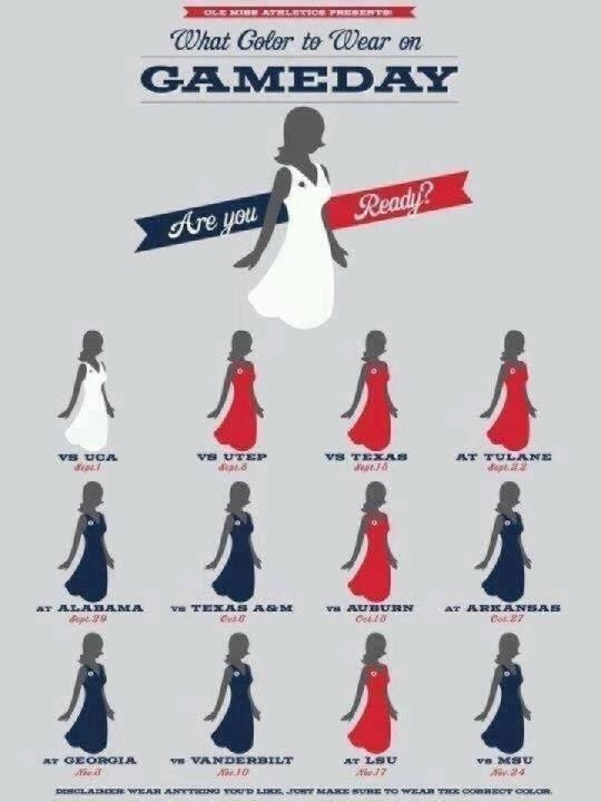 Game day colors for Ole Miss games!: Style, Football, Hottytoddy, Color, Hotty Toddy, Game Day Dresses, Dress Codes, Olemise, Ole Miss