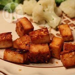 Photo de recette : Tofu mariné cuit au four