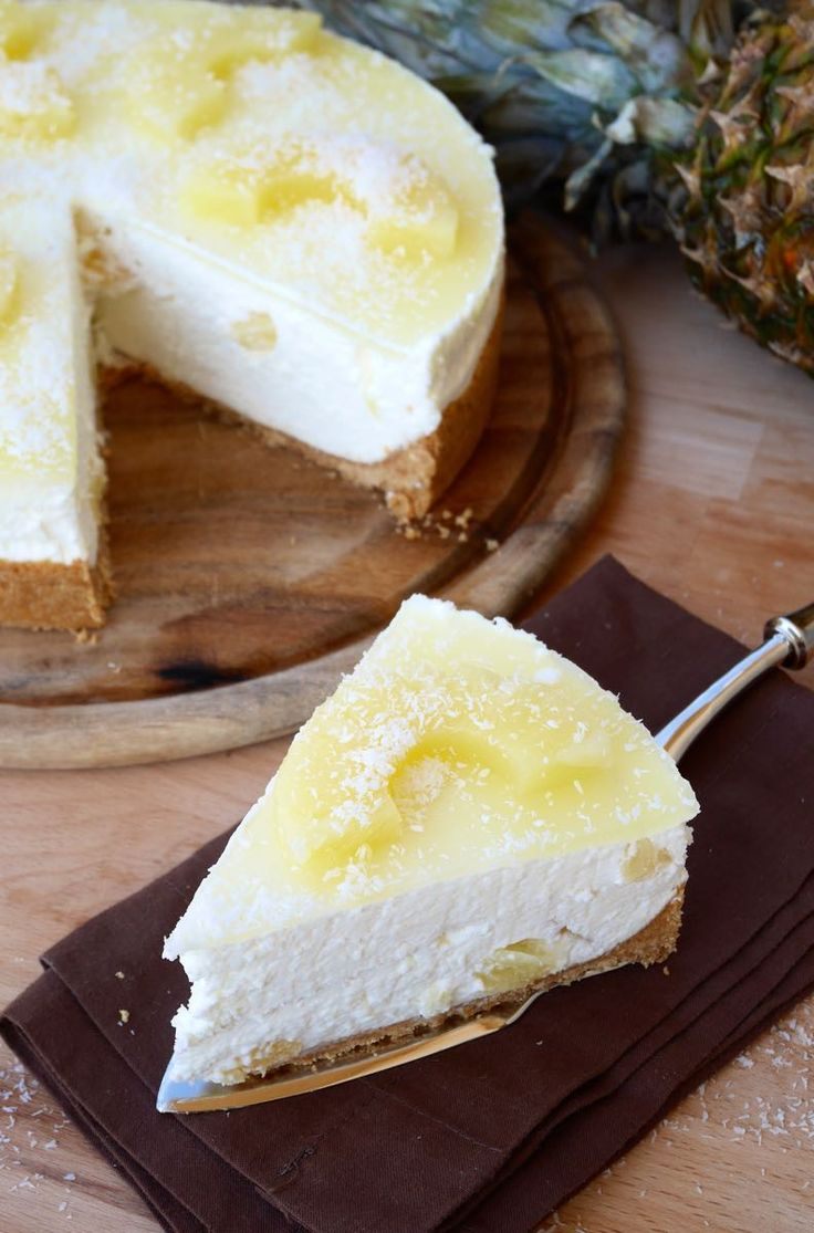 Pineapple and coconut cheesecake | Cheesecake ananas e cocco | Mastercheffa