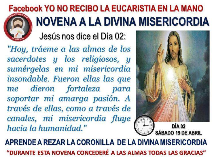 Segundo día de la Novena a la Divina Misericordia.