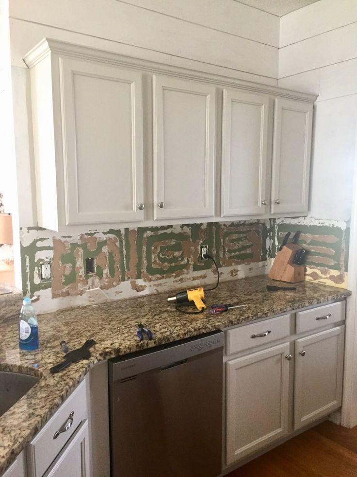 How To Remove A Glued On Backsplash Maebells Diy Backsplash Diy Kitchen Backsplash Brick Backsplash Kitchen