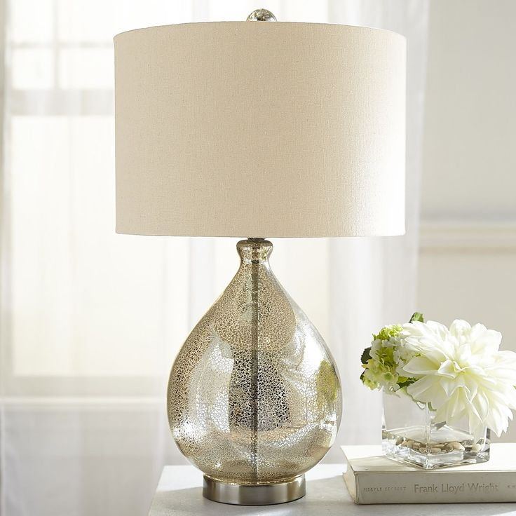 Elegant Our Mercury Glass Lamp With A Champagne Colored Shade Is Worthy Of A Toast  Or Two. Not Only Does It Make An Artful Addition To Your Living Space, ...