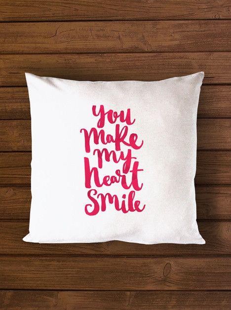 Cushion - You make my heart smile
