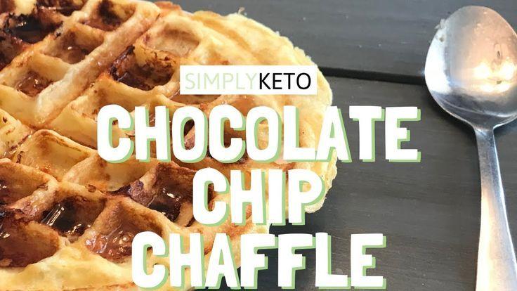 CHOCOLATE CHIP CHAFFLE – Keto Dessert Rezepte für Anfänger – 5 Min Rezept-#Anf…