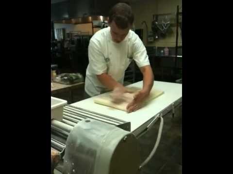 Laminating Croissant Dough Pt2 - YouTube