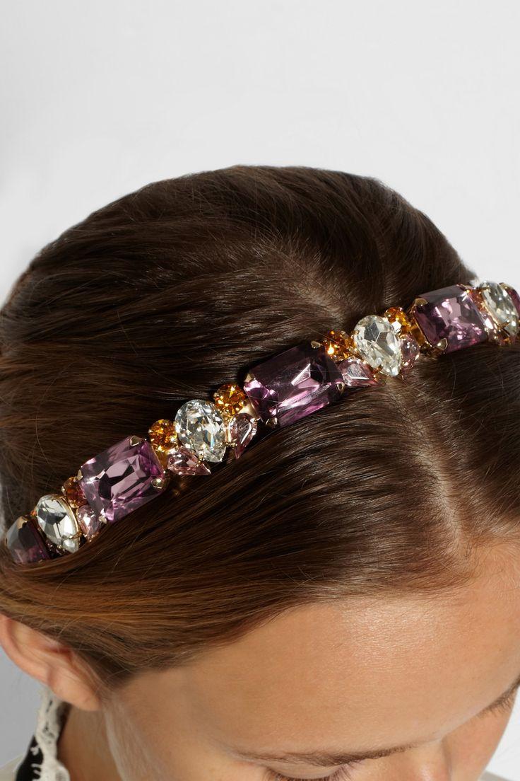 Dolce & Gabbana | Позолоченные кристаллов Сваровски оголовье | NET-A-PORTER.COM