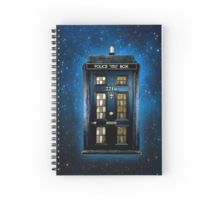 Detective Phone box with 221b number Spiral Notebooks  #SpiralNotebooks #Spiral #Notebooks #tardis #policepubliccallbox #doctorwho #221b #sherlockholmes #vangogh #door #Detective #phonebooth #phonebox #timemachine #timetraveller #house #haunted #geek #nerd #starrynight