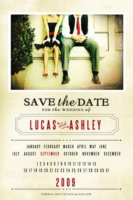 Retro Save the Date by jennifer lane, via Behance Love this :) AND the photo
