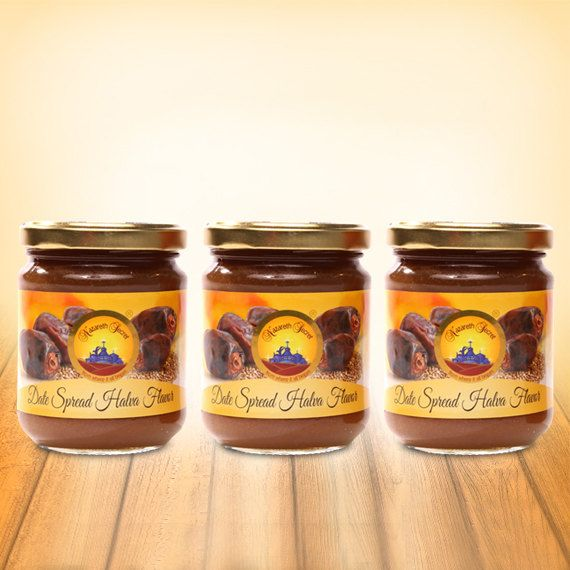 Date Spread Halva Flavor Jars 250gr 8.8oz 3 jars by NazarethSecret, $36.90