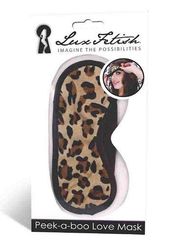 Øjenmaske Peek-a-boo - leopard fra Luxfetish - Sexlegetøj leveret for blot 29 kr. - 4ushop.dk - Alle kan li' overraskelser - dyrk blind love med Lux Fetish Peek-a-boo love maske.