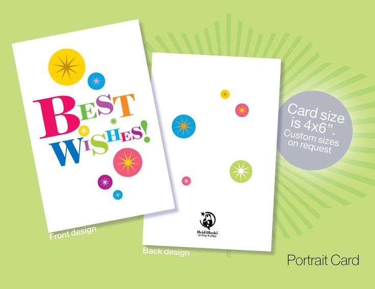 Printable BEST WISHES Cards, Instant download Best Wishes cards, Congratulations cards, Colourful Cards by heidihoshi on Etsy