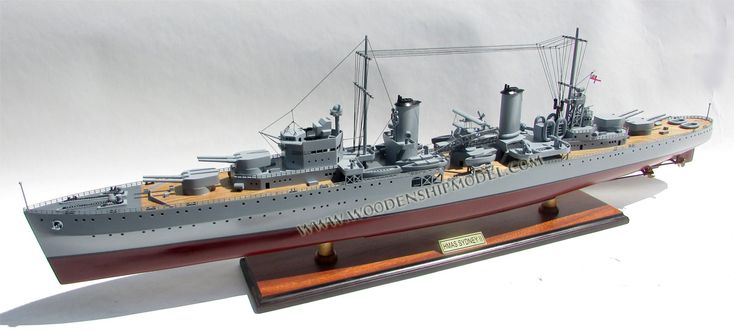 HMAS Sydney II Cruiser Model Ship ready for display