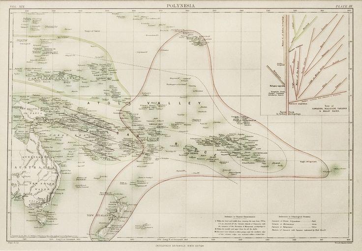Original Polynesia Map c.1880s