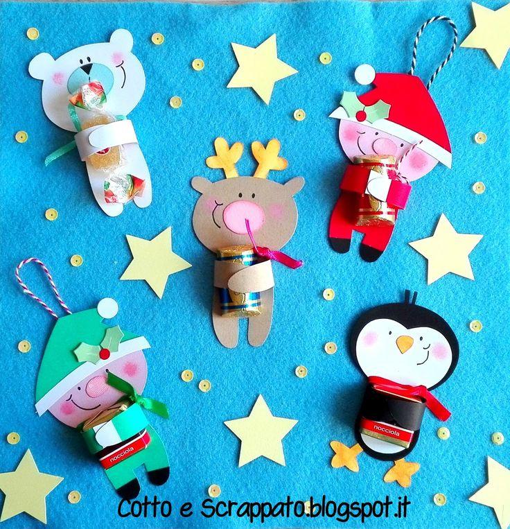 Porta cioccolatini/caramelle. Idea natalizia per i bambini.
