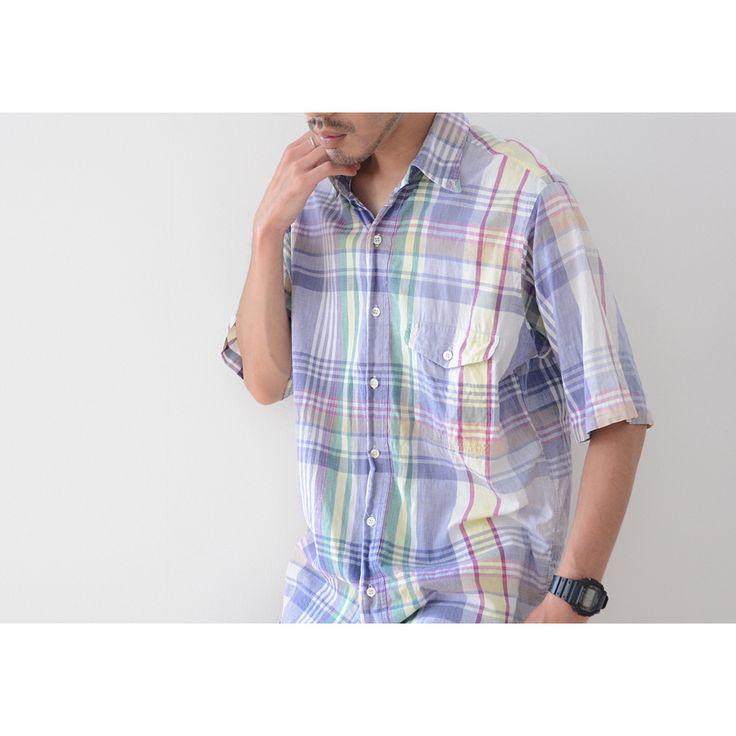 GANT製ヴィンテージマドラスチェックシャツ。プレッピーやIVY、カレッジ、アメリカントラディショナル(アメトラ)好きの方にお勧めの大人の為のカジュアルウェアです。