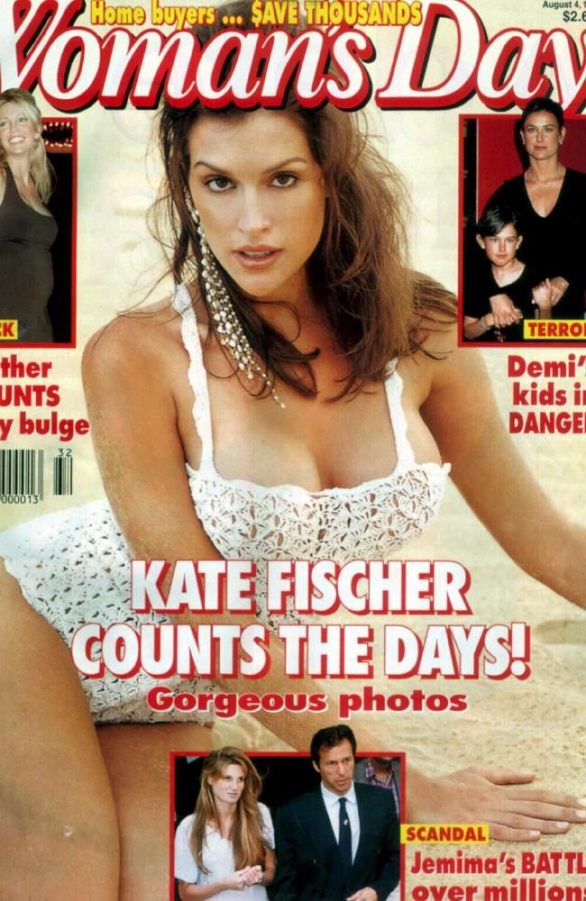 Actor / model Kate Fischer on the cover of Woman's Day in 1997. Picture: Supplied