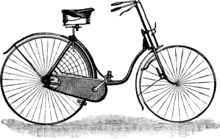 The term safety bicycle was used in the 1880s for any alternative to the penny-farthing. The front and rear wheel were not necessarily the same size.Safeties are now characterized by having two wheels of identical – or nearly identical – size, and a chain-driven rear wheel.