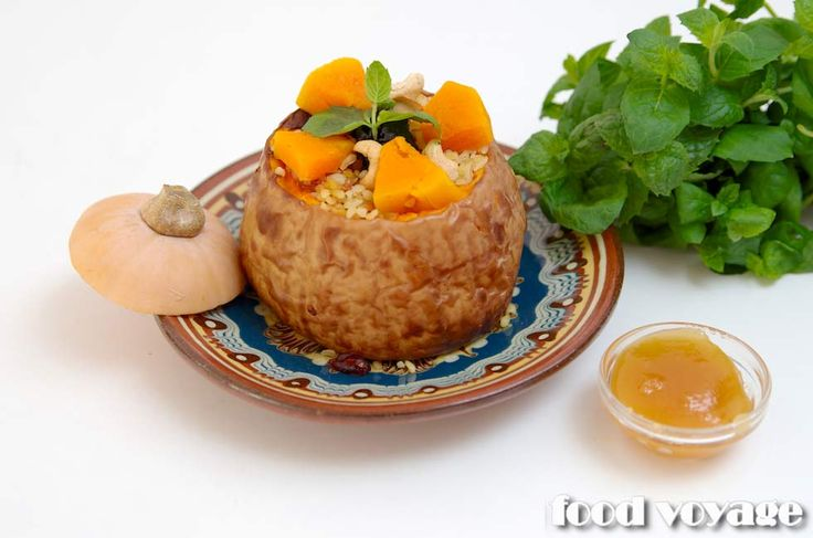 Фаршированная тыква #тыква #каша # рецепт #кулинария