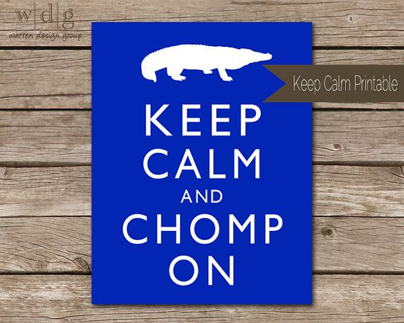 Keep Calm College Football Printable by WarrenDesignGroup on Etsy, $3.00