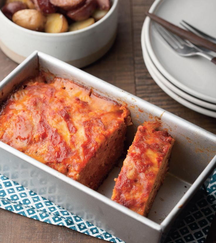 chicken parmesan meatloaf made in the slow cooker