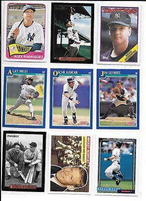 awesome Alex Rodriquez plus 8 more Yankees baseball card lot - For Sale