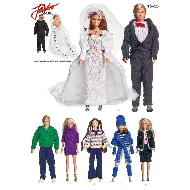 Köp - Gratis!! Virkmönster - Barbiekläder  - Järbo Garn 15-15. Stickmönster från Järbo Garn. Garnkvalité: Mini Ull (100% ull) Mini