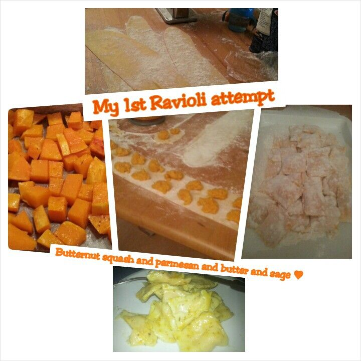 butternut squash and parmesan Ravioli ♥