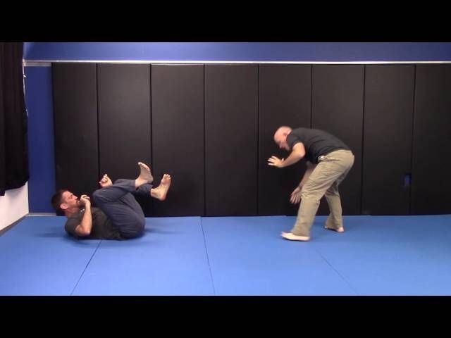 BJJ Black Belt and Self Defense Expert Chad Lyman shows a slick BJJ Sweep adapted to the street #selfdefensebelt