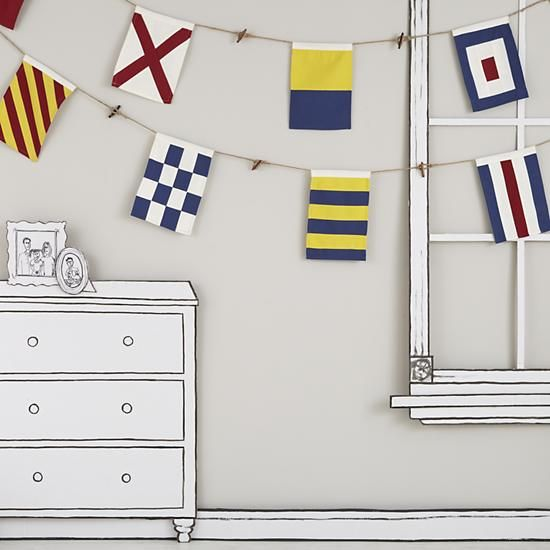 Nautical Flags Room Decor