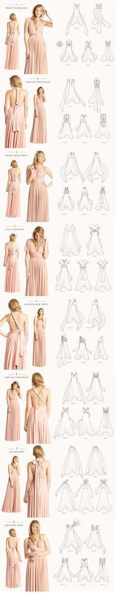 How to tie an infinity dress (Diy Hair Wrap)