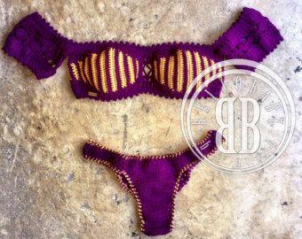 Oceana azul custom crochet bikini