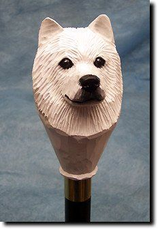 Samoyed Dog Walking Stick - Special Custom Dog Breed Sturdy Canes Sale