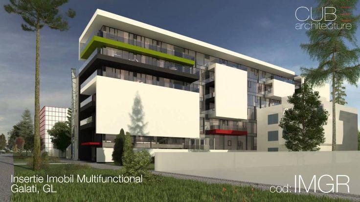 Insertie Imobil Multifunctional Galati, GL - proiect din portofoliul CUB Architecture [cod IMGR]