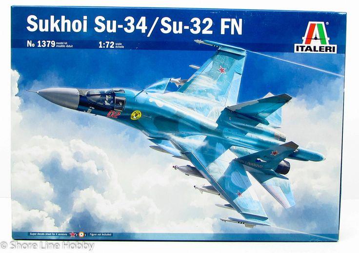 Italeri Sukhoi Su-34/Su-32 FN 1379 1/72 New Airplane Plastic Model Kit