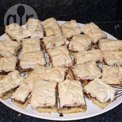 Barras de merengue con frambuesa @ allrecipes.com.mx