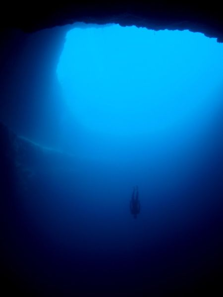 The Blue Hole in Sante Rosa, New Mexico.  Amazing to see; I hope to go back there some day.