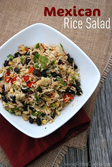 Mexican Rice Salad - Katie's Cucina | Katie's Cucina. Tried this, it was amazing